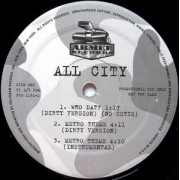 "All City - Who Dat?, 12"", 33 ⅓ RPM, Promo"