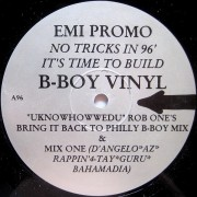 "Rob One - EMI Promo - No Tricks In 96' It's Time To Build, 12"", 33 ⅓ RPM, Promo"