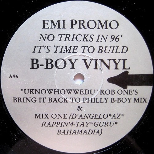 "Rob One - EMI Promo - No Tricks In 96' It's Time To Build, 12"", Promo"