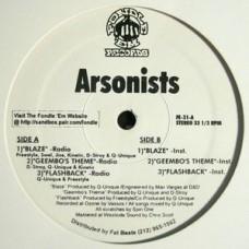 "Arsonists - Blaze / Geembo's Theme / Flashback, 12"", 33 ⅓ RPM"