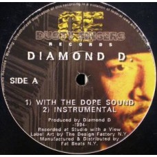 """Diamond D. / The Fantastic 4 - With The Dope Sound / You're In The Wrong Place, 12"""""""