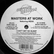 """Masters At Work Featuring India - I Can't Get No Sleep, 12"""""""