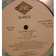 "D-Nice - The TR 808 Is Coming, 12"", Promo"