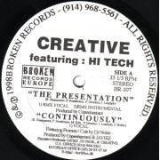 "Creative Featuring Hi Tech - The Presentation, 12"""