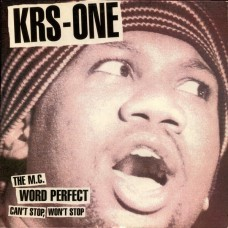 """KRS-One - Can't Stop, Won't Stop / The MC / Word Perfect, 12"""""""