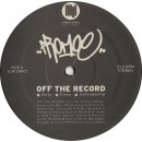 Promoe - Off The Record, 12""