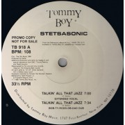 "Stetsasonic - Talkin' All That Jazz, 12"", Promo"
