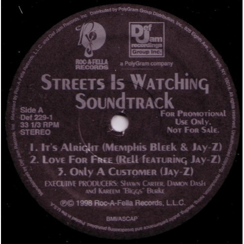 Various - Streets Is Watching Soundtrack, 2xLP, Promo