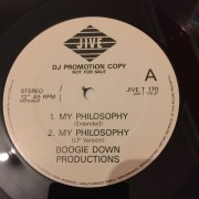 """Boogie Down Productions - My Philosophy, 12"""", Promo"""