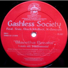 "Cashless Society / Mizchif - Blazetha Breaks / Place For A Wife, 12"""