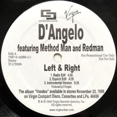 """D'Angelo Featuring Method Man And Redman - Left & Right, 12"""", Promo"""