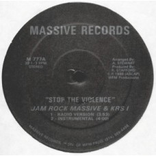 """Jam Rock Massive and KRS-1 - Stop The Violence, 12"""""""
