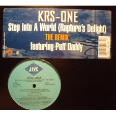 """KRS-One - Step Into A World (Rapture's Delight) (The Remix), 12"""""""