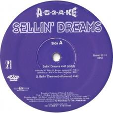 """A-G-2-A-KE - Sellin' Dreams, 12"""", Promo"""