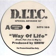 """D.I.T.C. - Way Of Life, 12"""", Promo"""