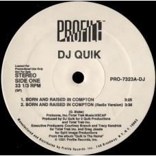 "DJ Quik - Born And Raised In Compton / Sweet Black Pussy, 12"", Promo"
