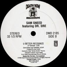 """Dr. Dre & Ice Cube / Sam Sneed - Natural Born Killaz / U Better Recognize, 12"""", Promo"""