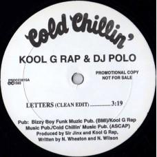 "Kool G Rap & DJ Polo - Letters, 12"", Promo"