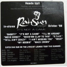 RahSun - It's Not A Game, LP, Promo