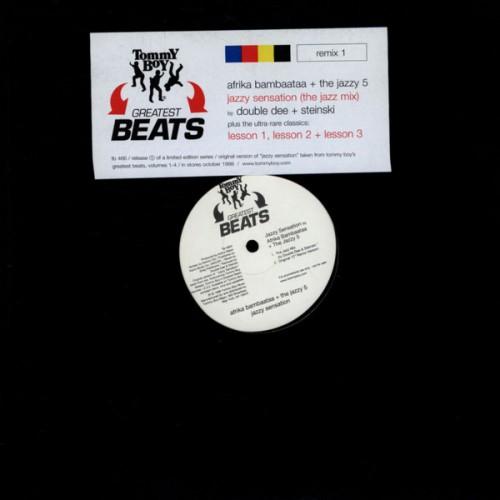 "Afrika Bambaataa & The Jazzy 5 / Double Dee & Steinski - Jazzy Sensation / Lessons 1-3, 12"", Promo"