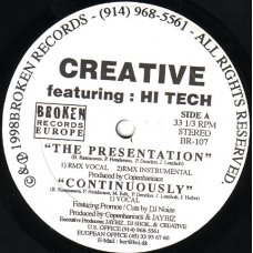 Creative Featuring Hi Tech - The Presentation, 12""