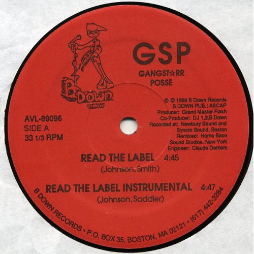 GSP - Read The Label / Swinga, 12""