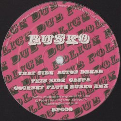 Rusko - Acton Dread / Cockney Flute (Rmx), 12""
