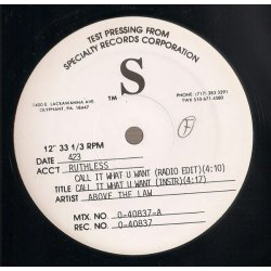 "Above The Law - Call It What U Want, 12"", Test Pressing"
