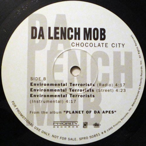 "Da Lench Mob - Chocolate City / Environmental Terrorists, 12"", Promo"