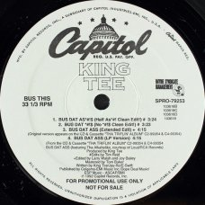 "King Tee - Bus Dat Ass / Tha Great, 12"", Promo"