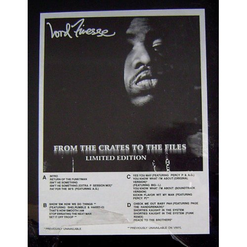 Lord Finesse - From The Crates To The Files, 2xLP