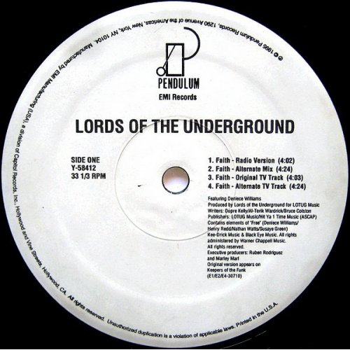 Lords Of The Underground - Faith, 12""