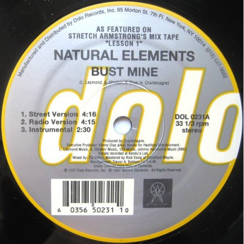 Natural Elements - Bust Mine / Paper Chase, 12""