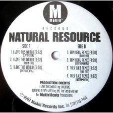 "Natural Resource - I Love This World, 12"""