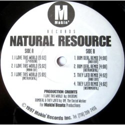 Natural Resource - I Love This World, 12""