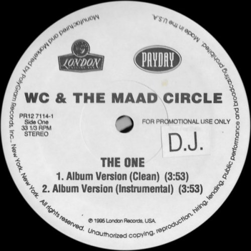 "WC And The Maad Circle - The One, 12"", Promo"