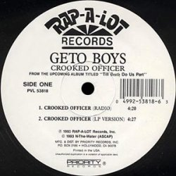 Geto Boys - Crooked Officer, 12""