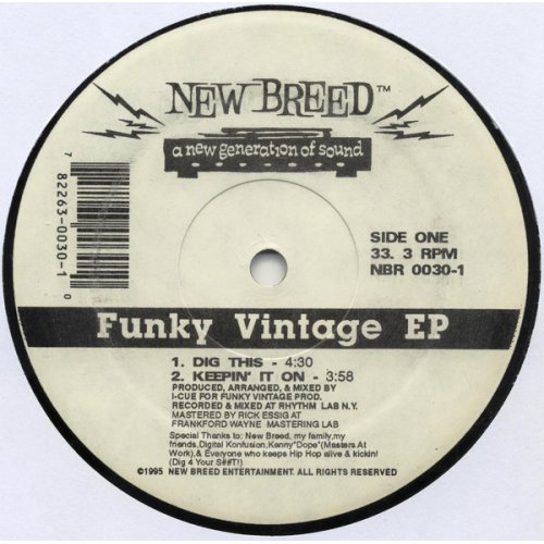 "I-Cue - Funky Vintage EP, 12"", EP"