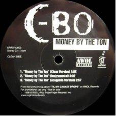 "C-Bo - Money By The Ton, 12"", Promo"