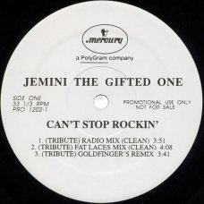 """Jemini The Gifted One - Can't Stop Rockin' (Tribute), 12"""", Promo"""