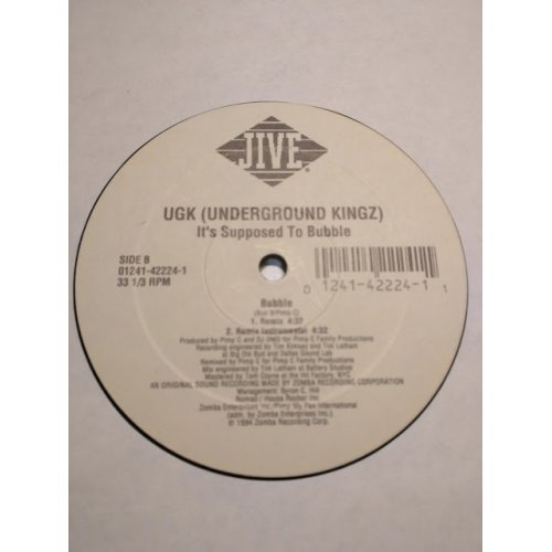 Underground Kingz - It's Supposed To Bubble, 12""