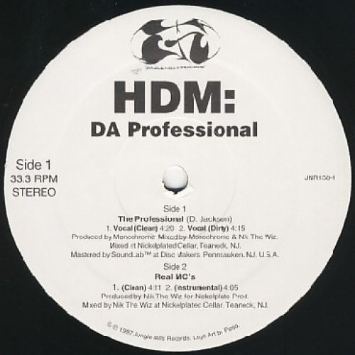 HDM - Da Professional / Real MC's, 12""