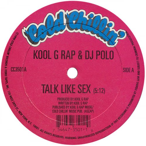 "Kool G Rap & D.J. Polo - Talk Like Sex / F*@K U Man, 12"", Reissue"