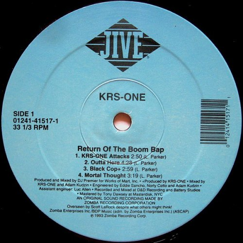 KRS-ONE - Return Of The Boom Bap, 2xLP