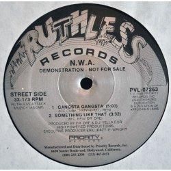 """N.W.A. - Gangsta Gangsta, 12"""", Promo"""