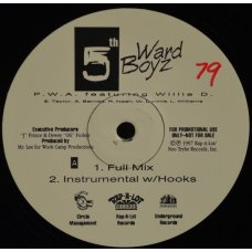 "5th Ward Boyz - P.W.A. featuring Willie D., 12"", Promo"
