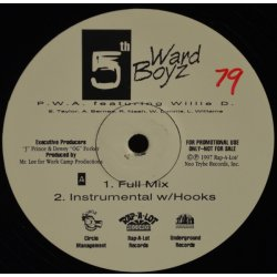 "5th Ward Boyz - P.W.A. featuring Willie D., 12"", Promo"
