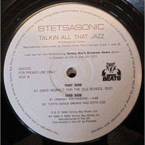 "Stetsasonic - Talkin' All That Jazz (Remixes), 2x12"", Promo"