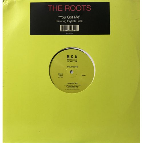 """The Roots Featuring Erykah Badu - You Got Me, 12"""""""
