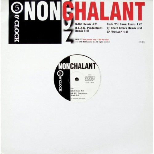 """Nonchalant - 5 O'Clock, 12"""", Promo"""